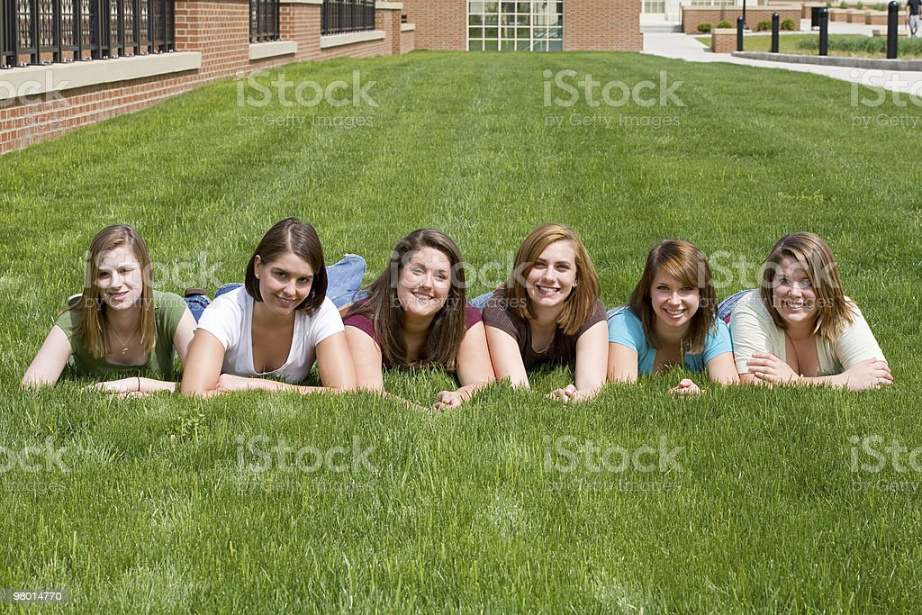 Group of College Girls royalty-free stock photo