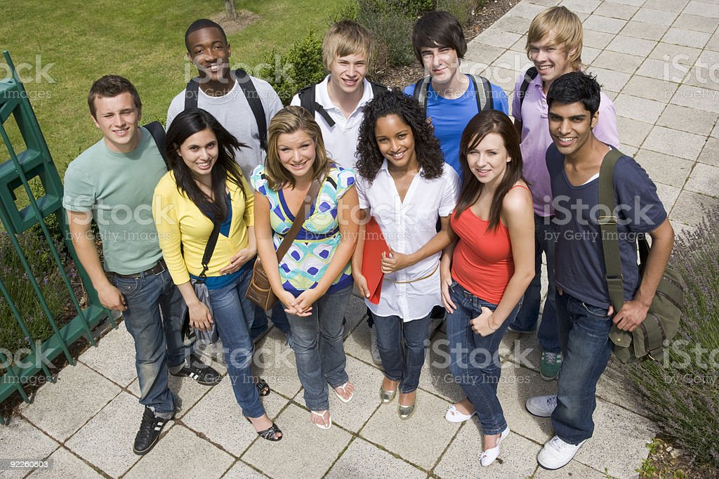 Group of college students royalty-free stock photo