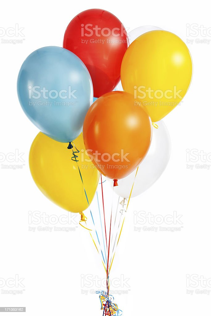 Group of colorful balloons stock photo