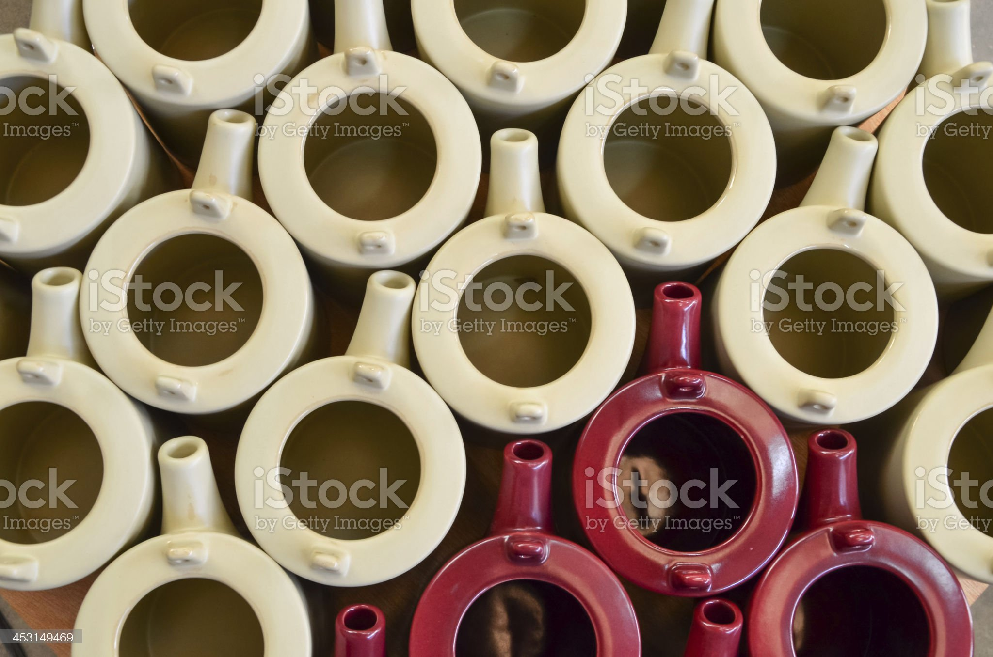 Group of colorful ceramic royalty-free stock photo