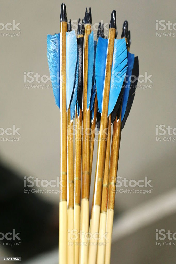 Group of colorful sport arrows as a background stock photo