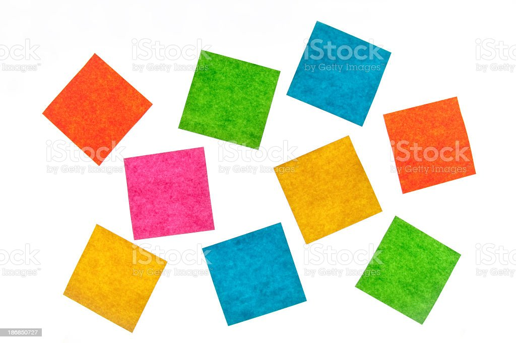 Group of colorful sticky notes royalty-free stock photo