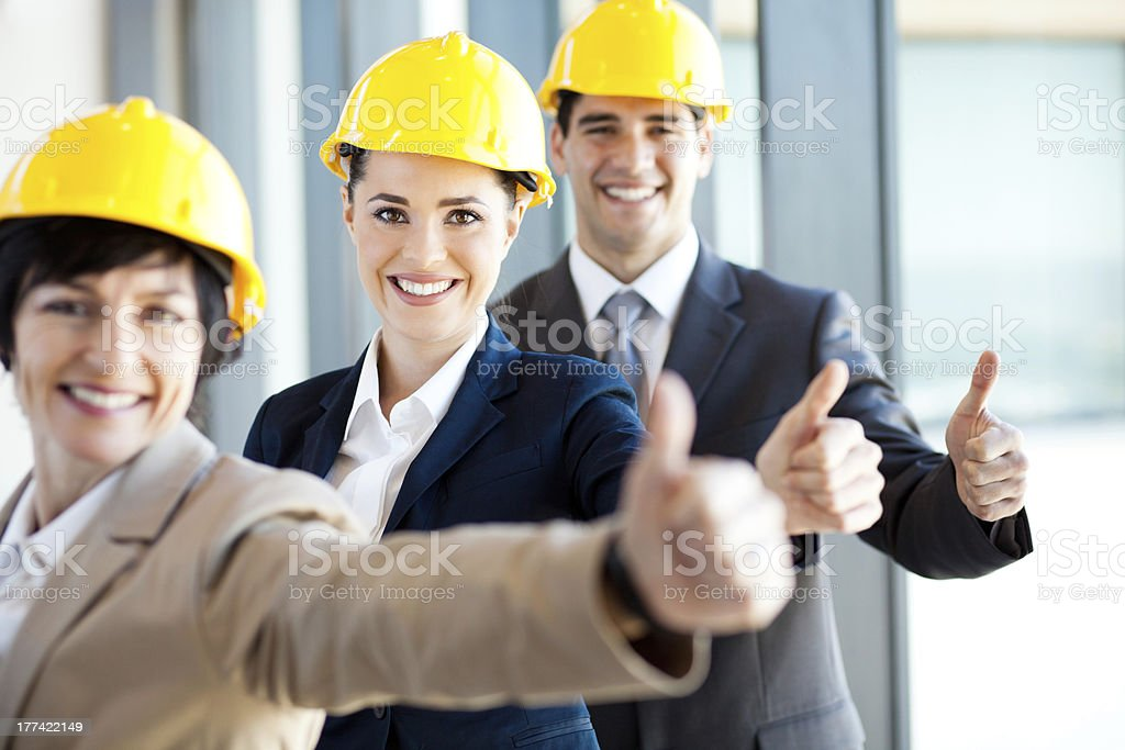 group of construction managers royalty-free stock photo