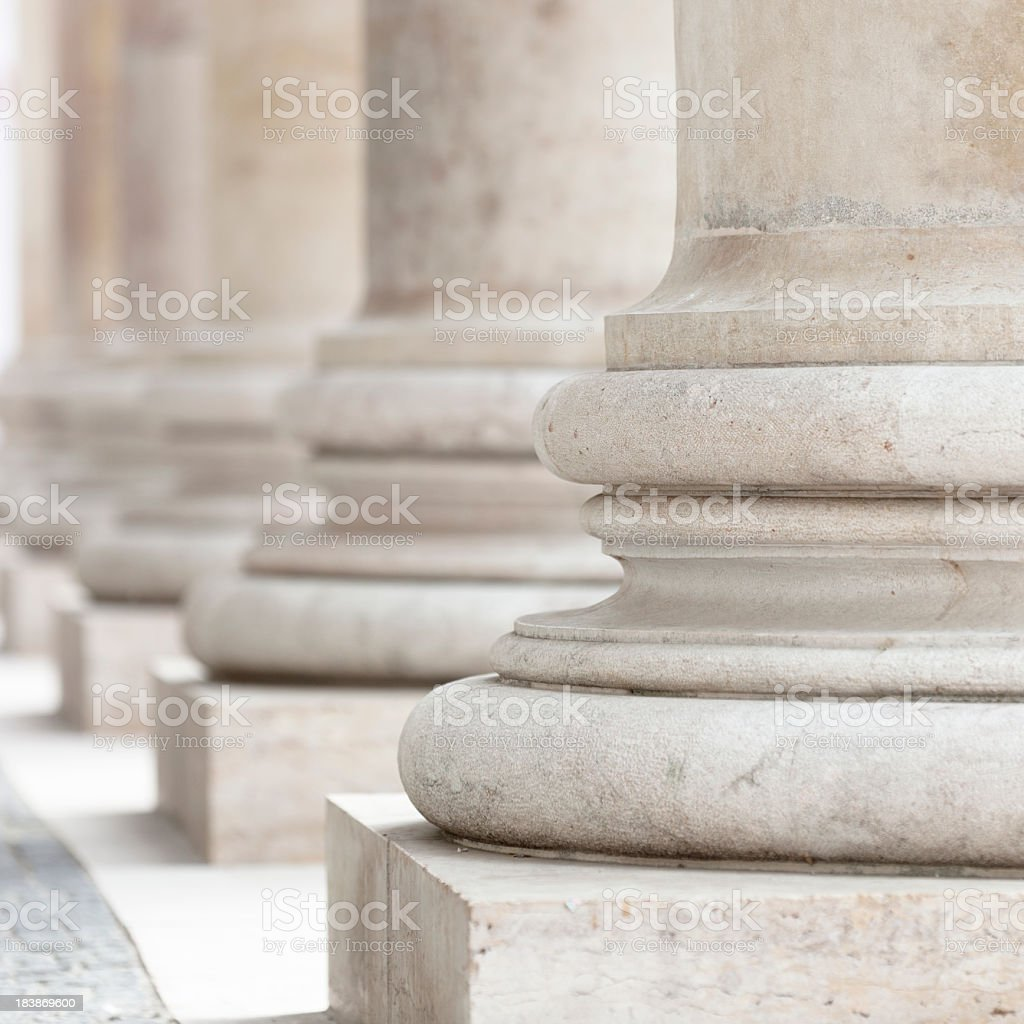 group of corporate business columns stock photo
