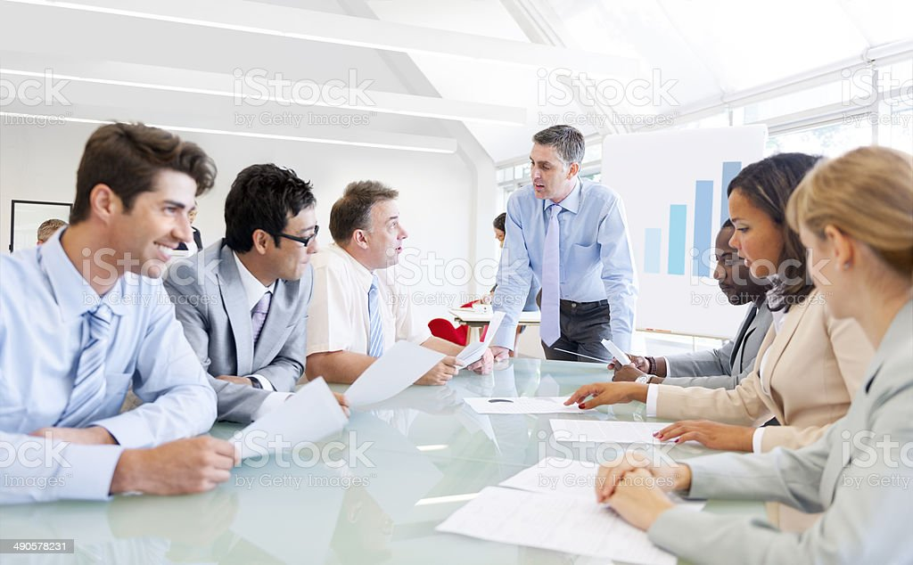 Group of Corporate People Having a Business Meeting stock photo