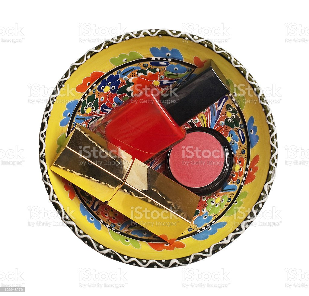 group of cosmetics royalty-free stock photo