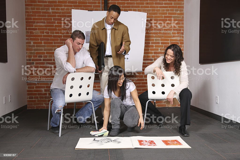 Group of creative young business people stock photo