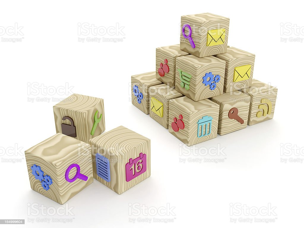 group of cubes royalty-free stock photo