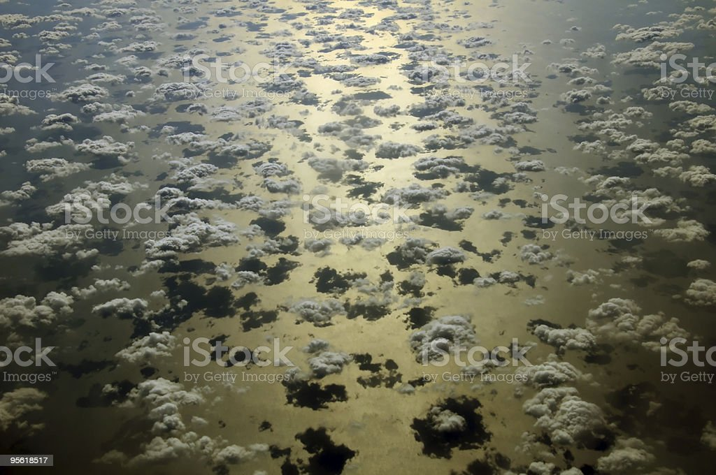 Group of cumulus coulds over Red Sea stock photo