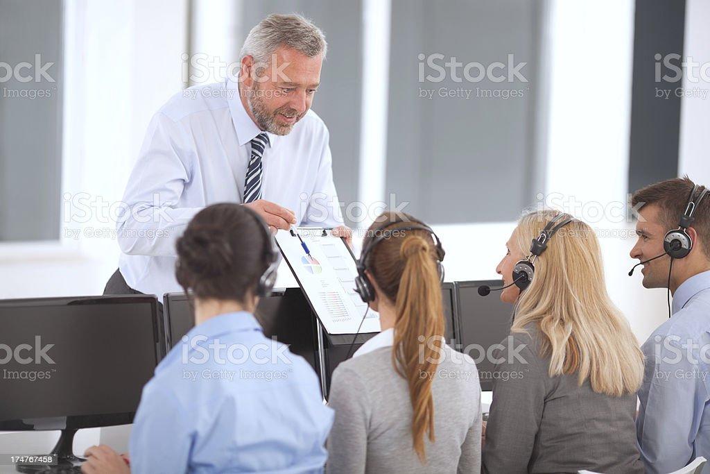 Group of customer service operators. royalty-free stock photo