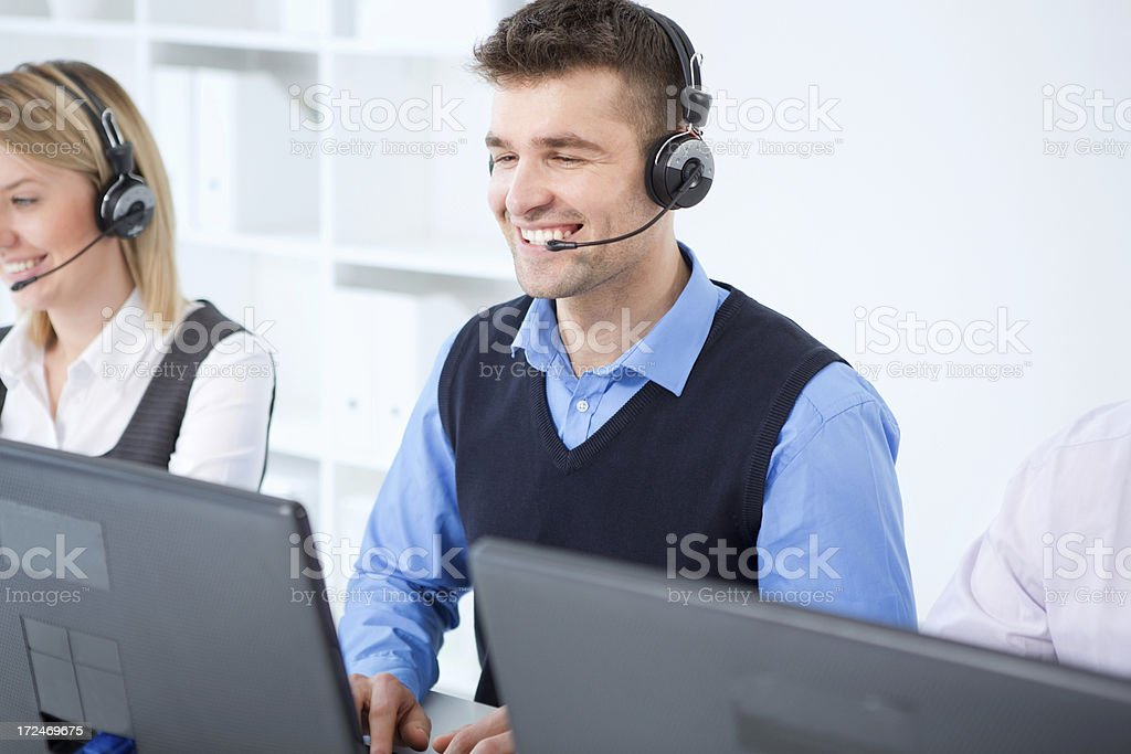 Group of customer service representatives. royalty-free stock photo