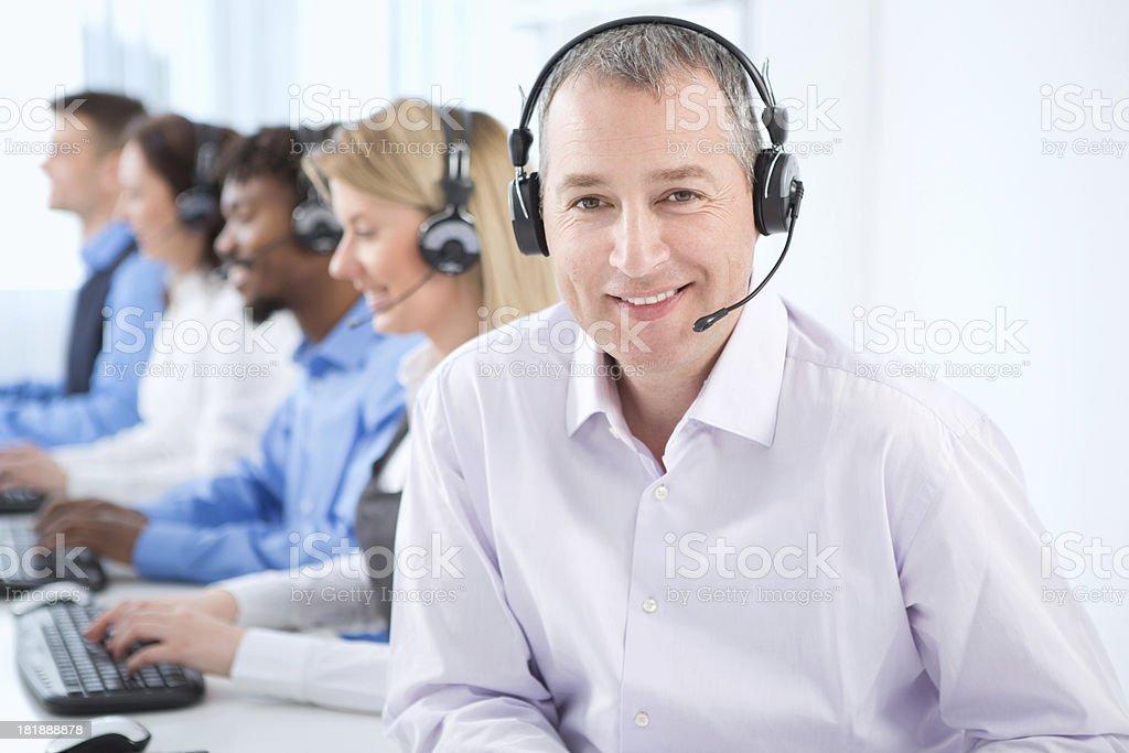 Group of customer service representatives. royalty-free stock photo