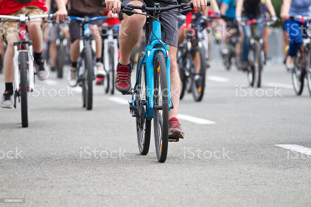 Group of cyclist stock photo