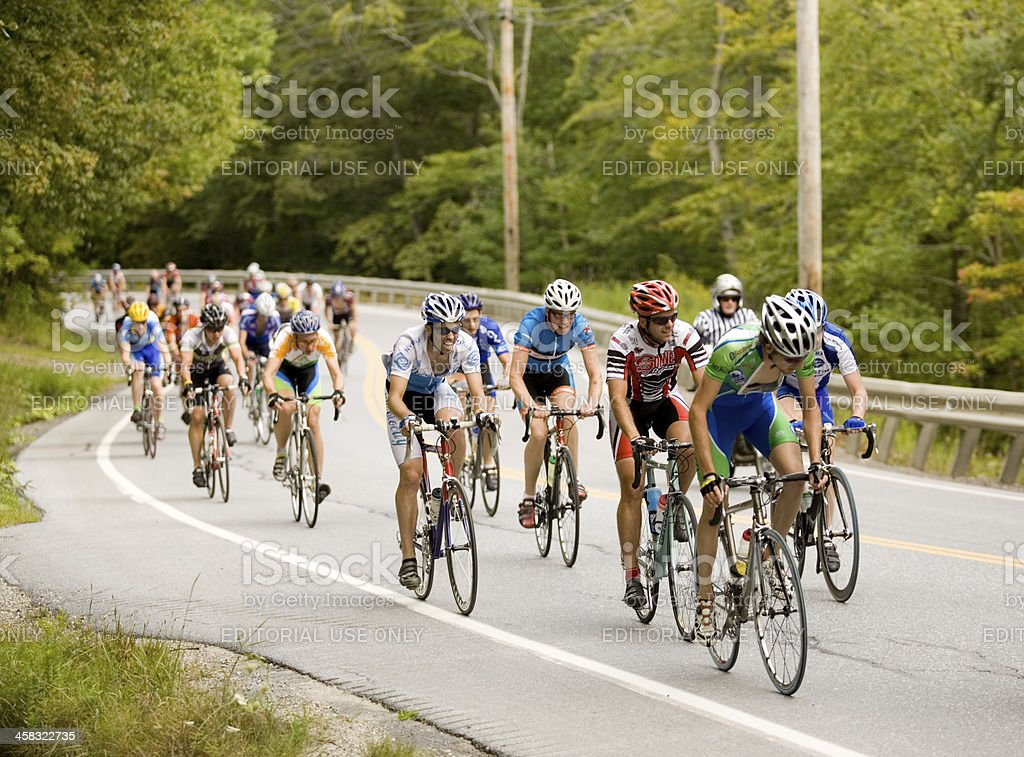 Group of Cyclists stock photo