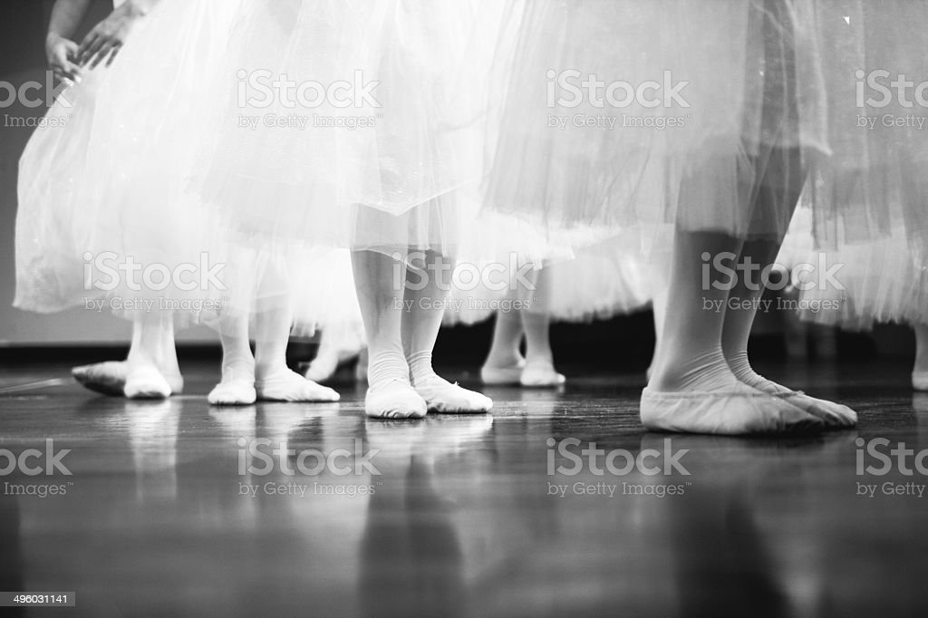 Group of dancers, child dancing stock photo
