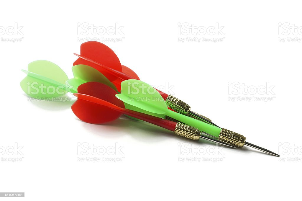 Group of Darts royalty-free stock photo