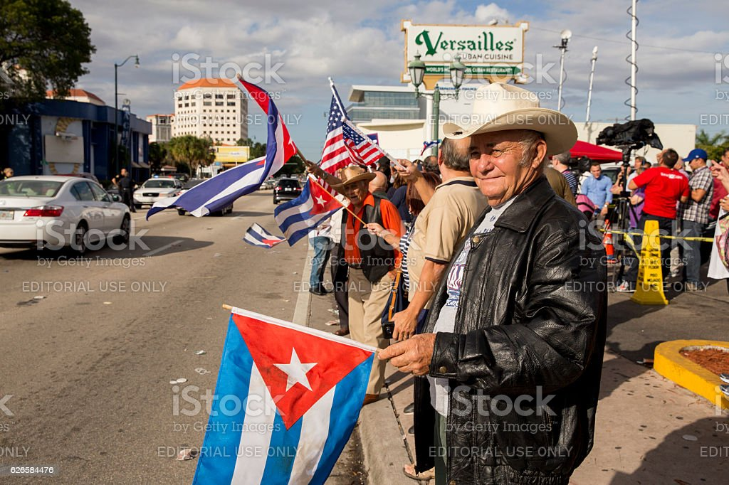 Group of demonstrators celebrating stock photo
