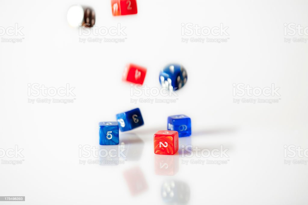 Group of dices stock photo