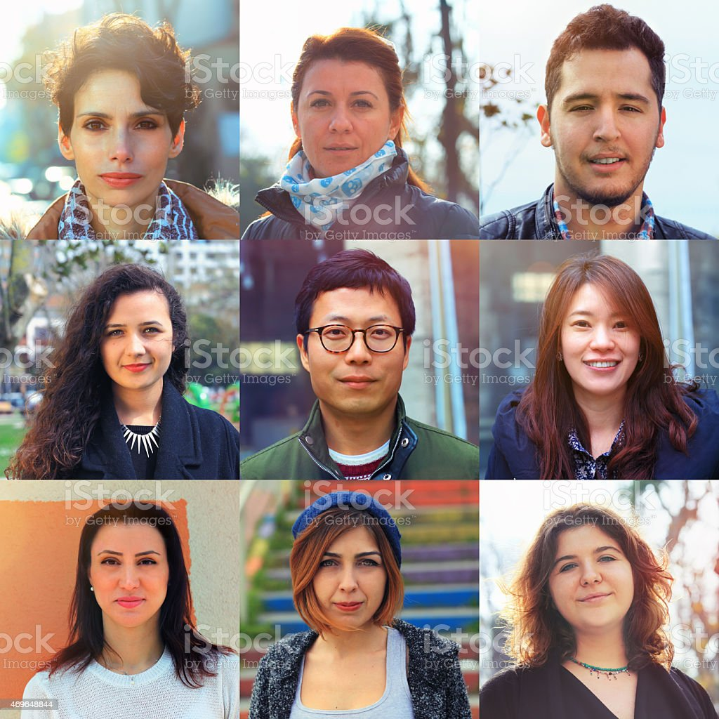 Group of different people stock photo