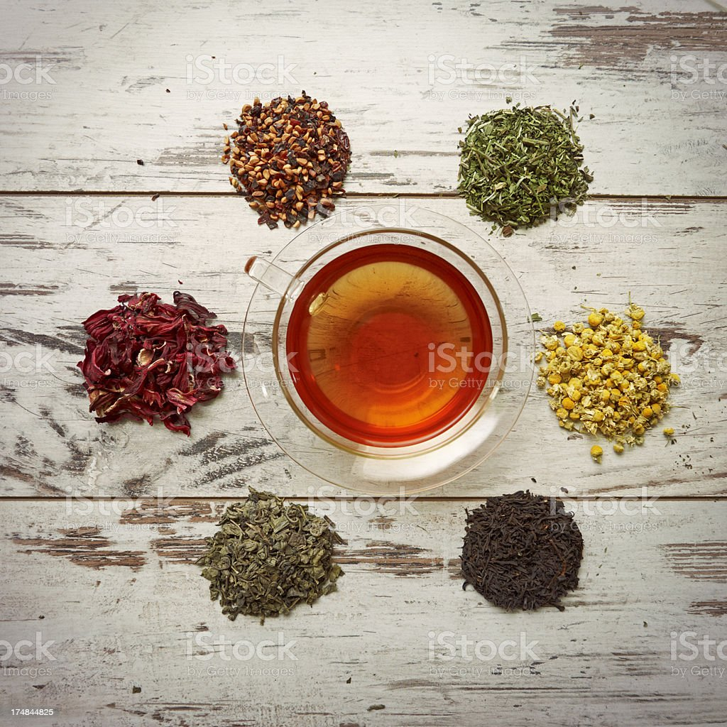 group of different tea royalty-free stock photo