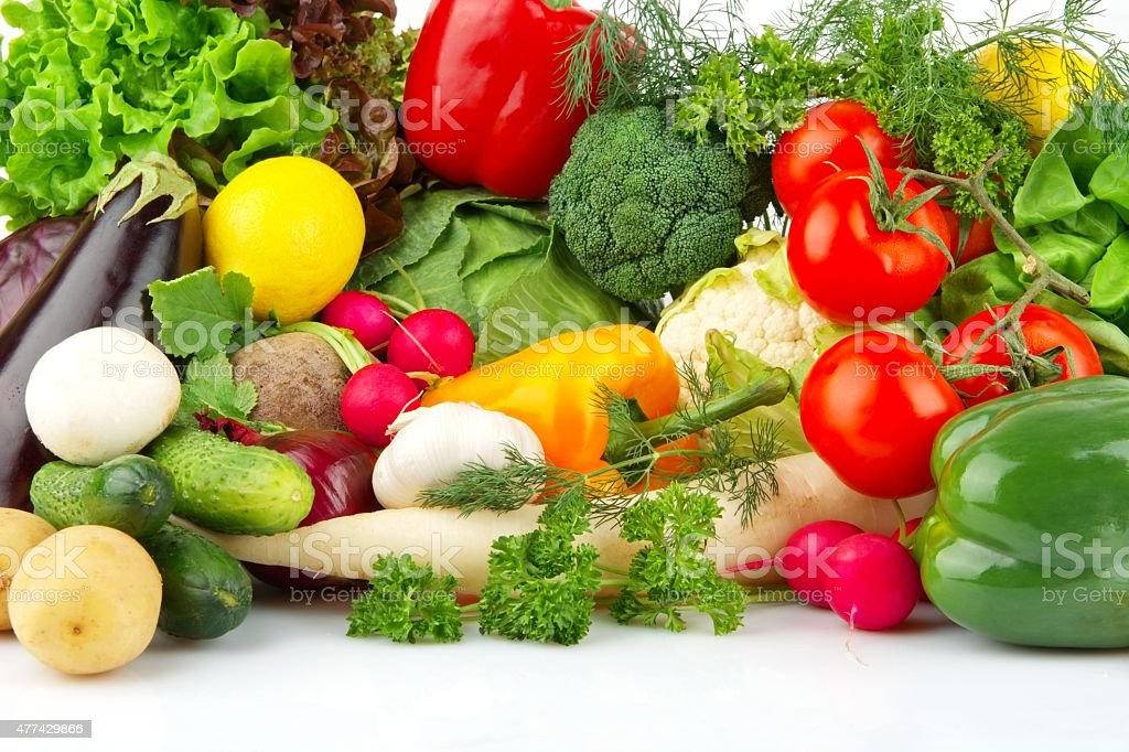 Group of different vegetables stock photo
