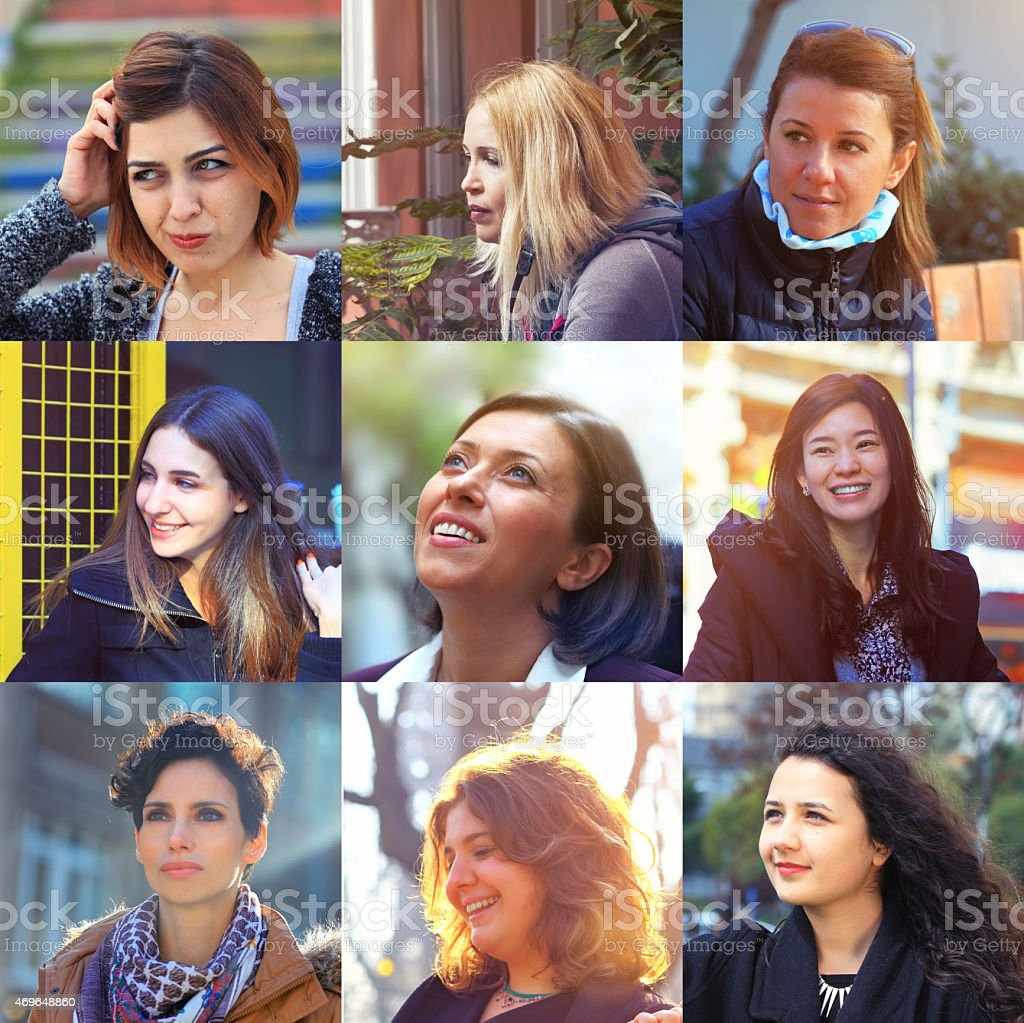 Group of different Women stock photo