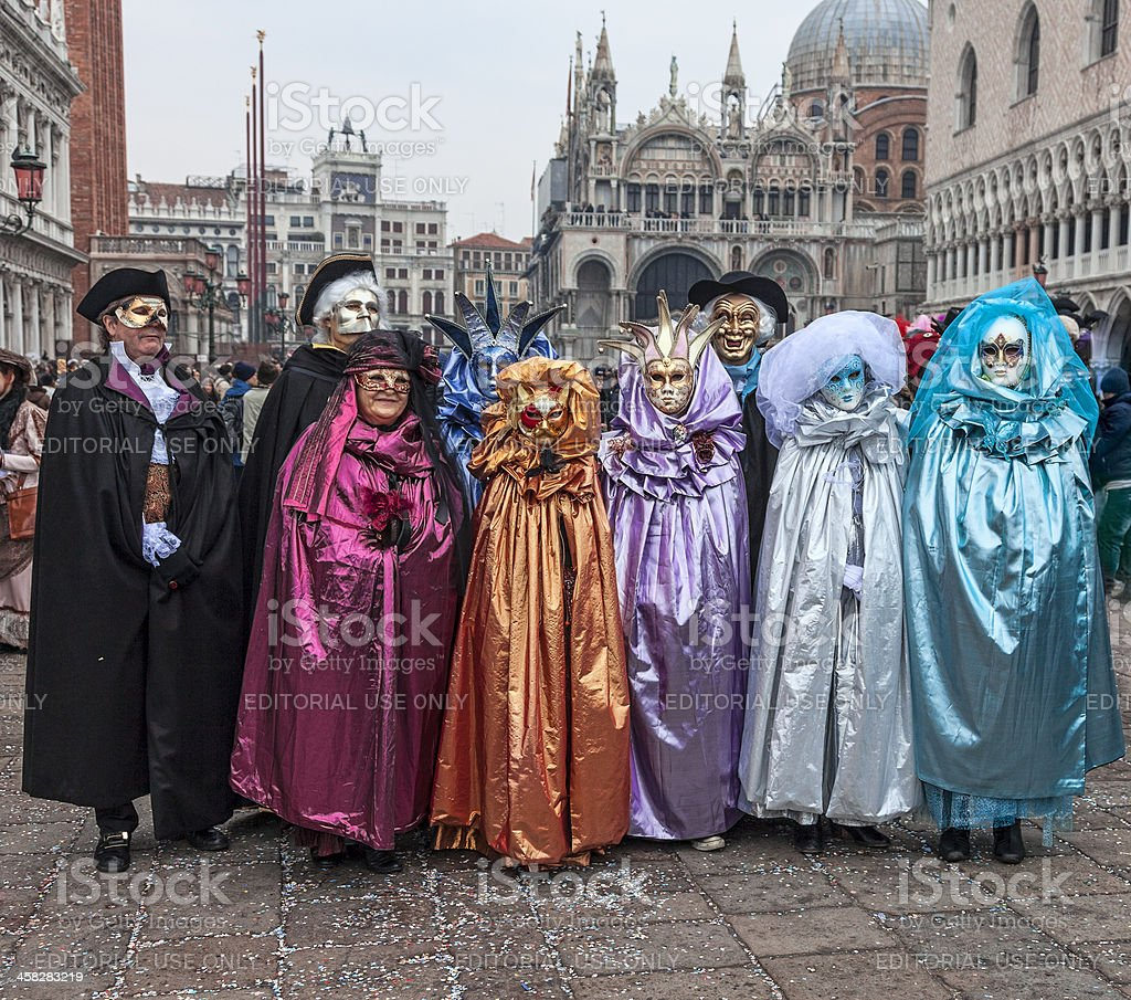 Group of Disguised People royalty-free stock photo