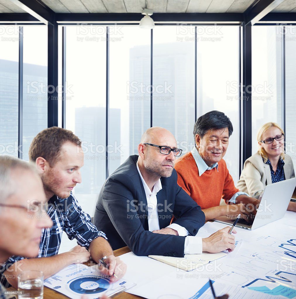 Group of Diverse Business People Having a Meeting royalty-free stock photo