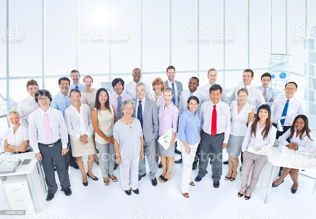 Group of diverse business people in office royalty-free stock photo