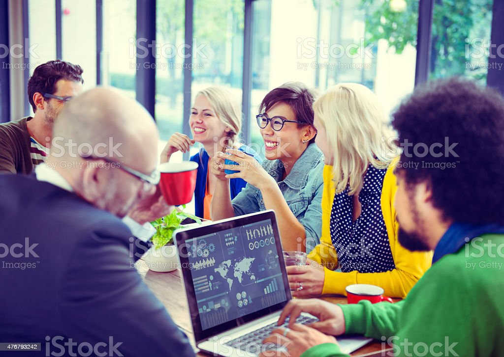 Group of Diverse Cheerful Business People stock photo