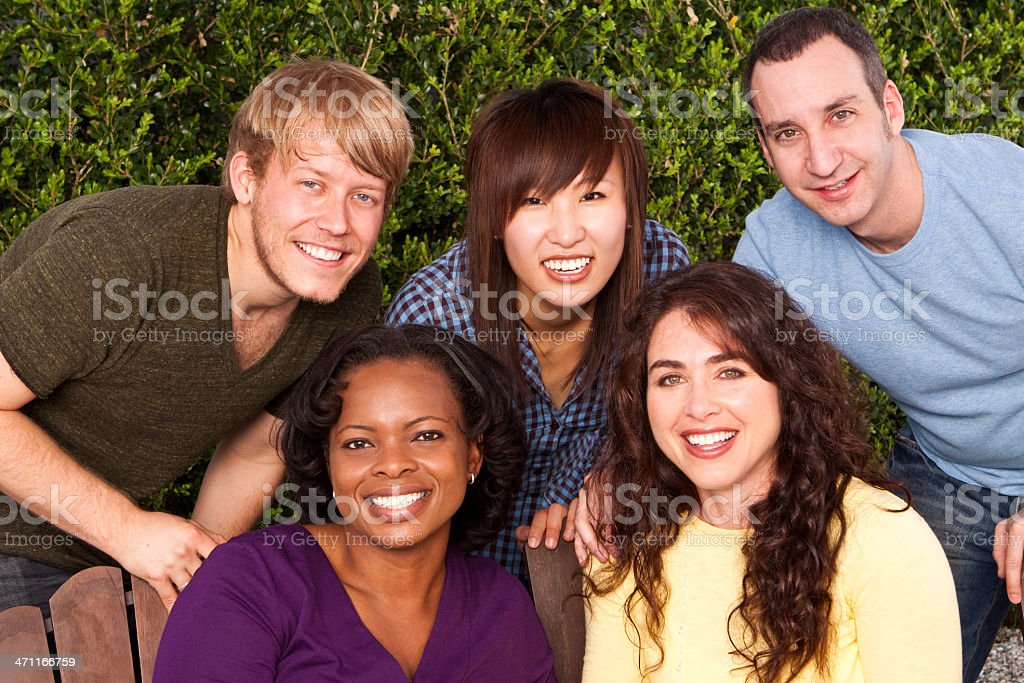 Group of Diverse Friends royalty-free stock photo