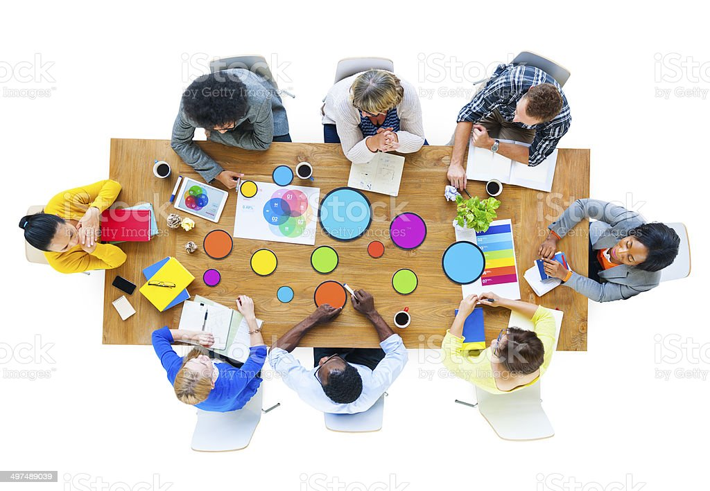 Group of Diverse Multiethnic Designers Meeting royalty-free stock photo