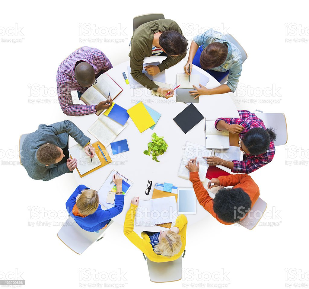 Group of Diverse People Brainstorming in Team royalty-free stock photo