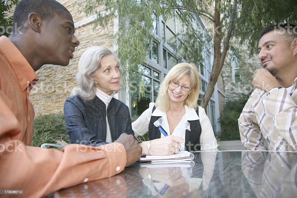 Group Of Diverse People Having A Conversation royalty-free stock photo