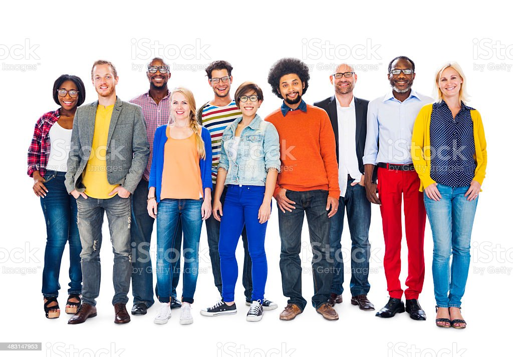 Group of Diverse People Standing Together stock photo
