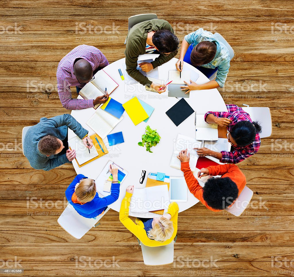 Group of Diverse People Working in a Team Concept stock photo