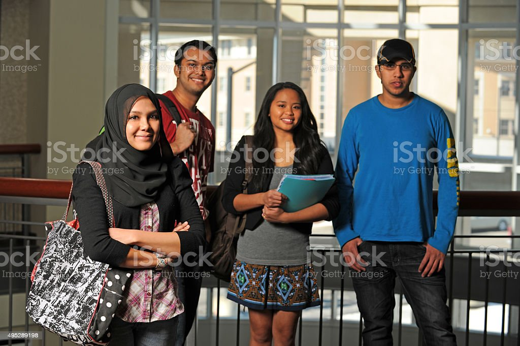 Group of Diverse Students stock photo