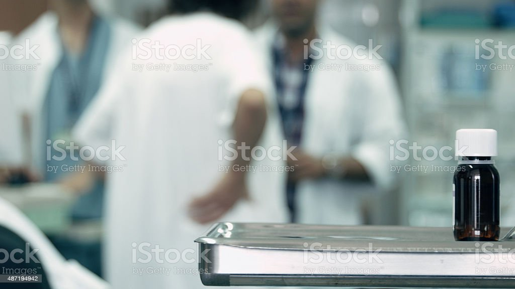 Group of doctors during staff meeting stock photo