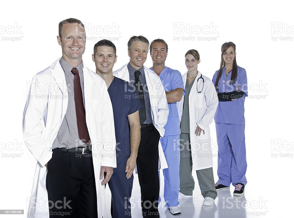 Group of Doctors In A Row royalty-free stock photo