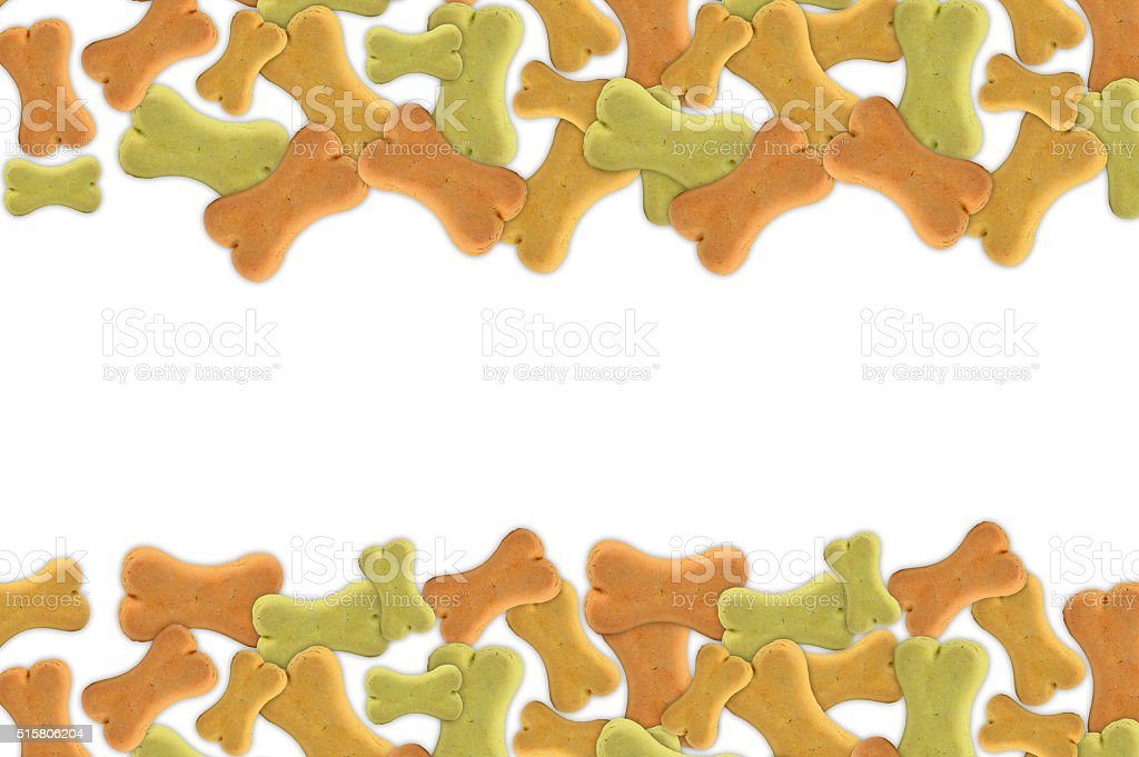 Group of dog biscuits stock photo