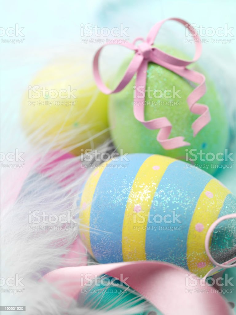 Group of Easter Eggs royalty-free stock photo