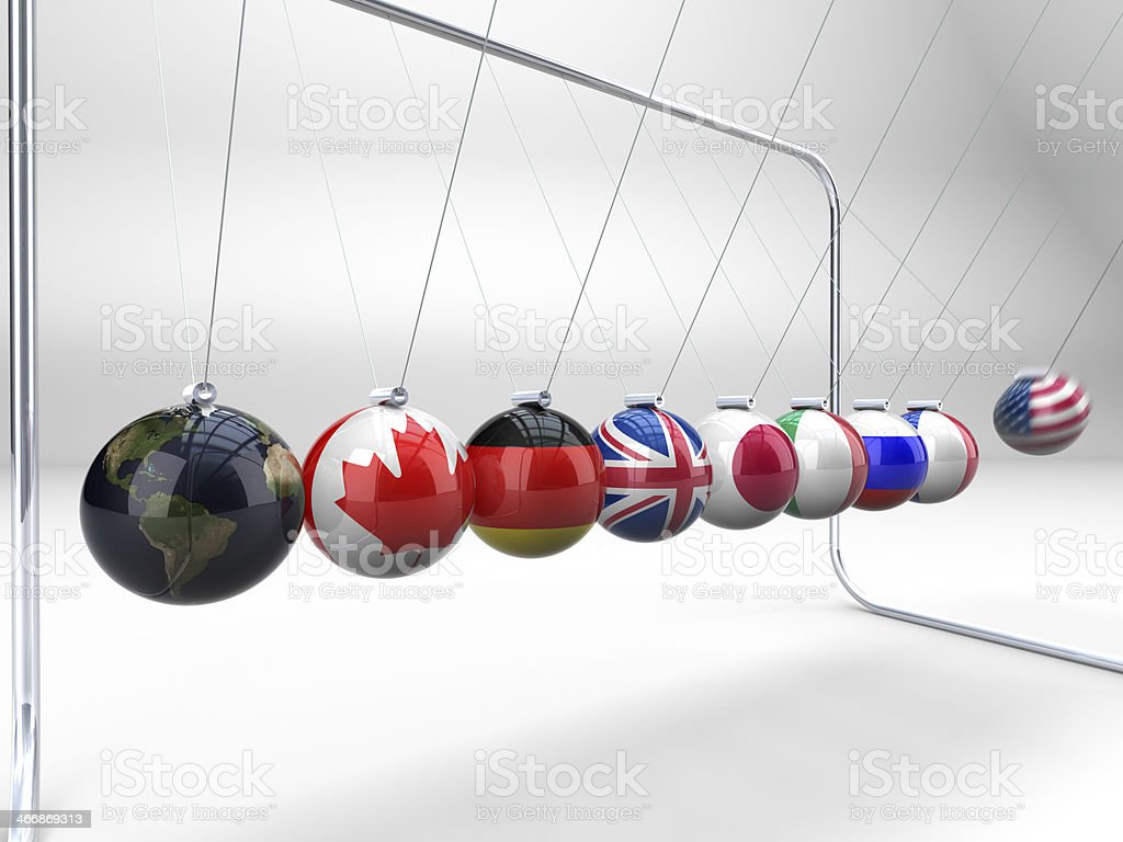 'Group of eight' ruling the world. stock photo