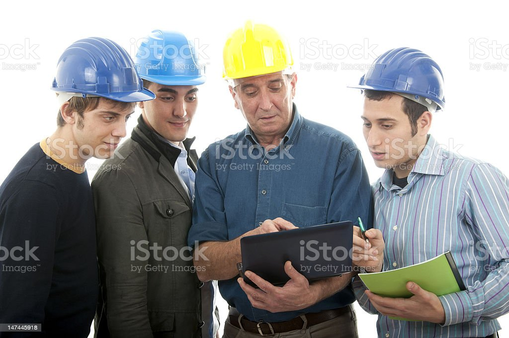 Group of engineers. royalty-free stock photo