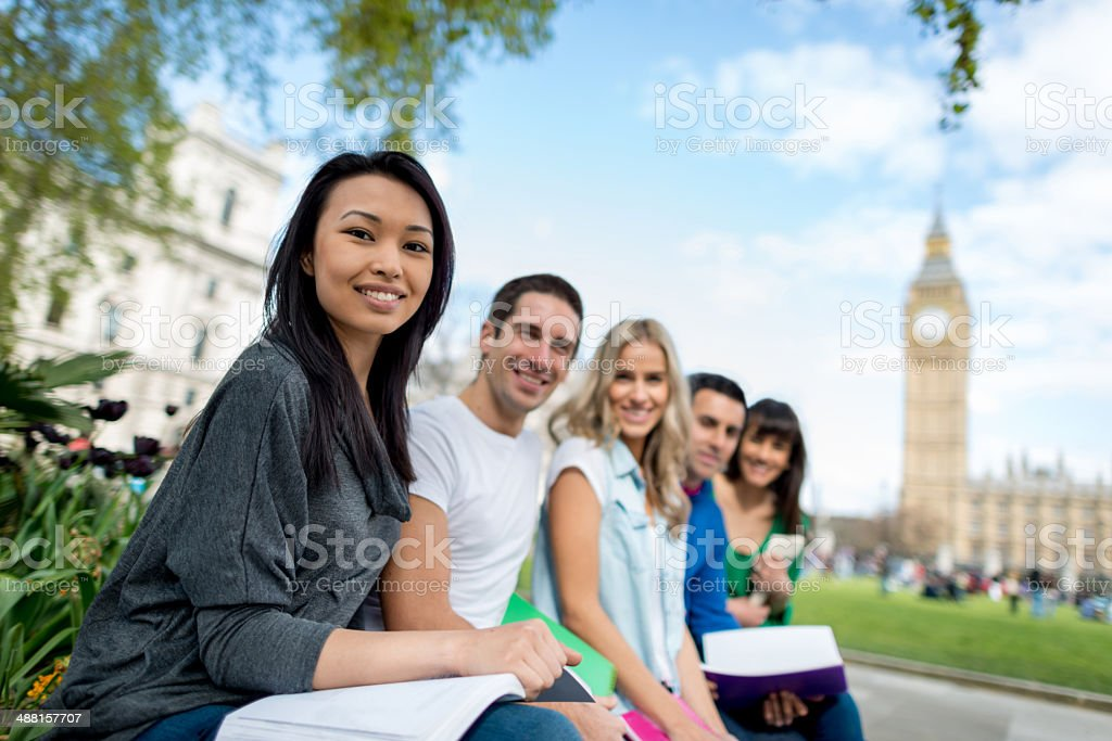 Group of English students stock photo