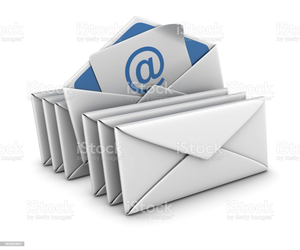 Group of Envelopes and E-mail royalty-free stock photo