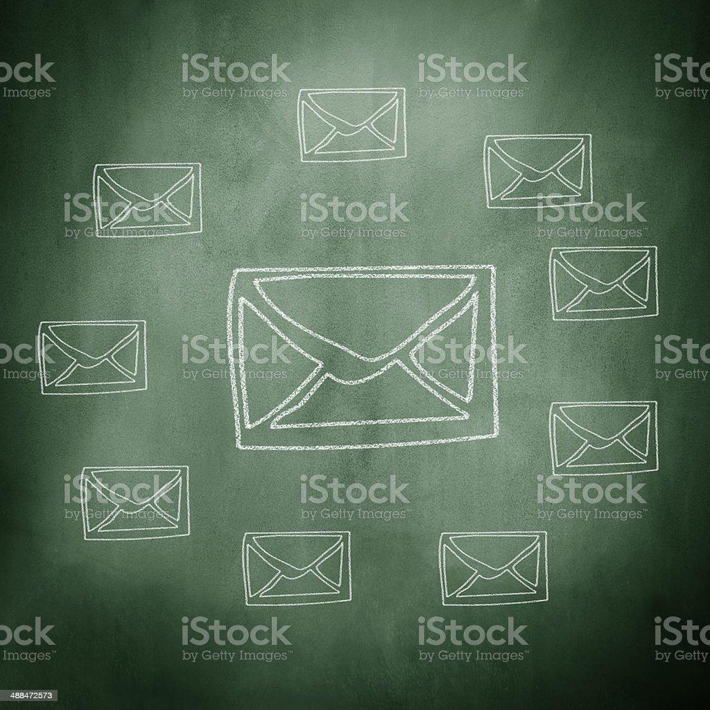 Group of Envelopes stock photo