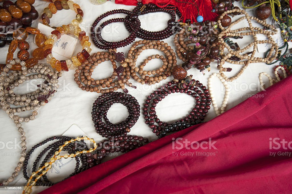group of Ethnic chinese beads closeup royalty-free stock photo