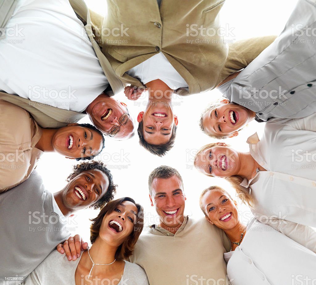 Group of excited people smiling royalty-free stock photo