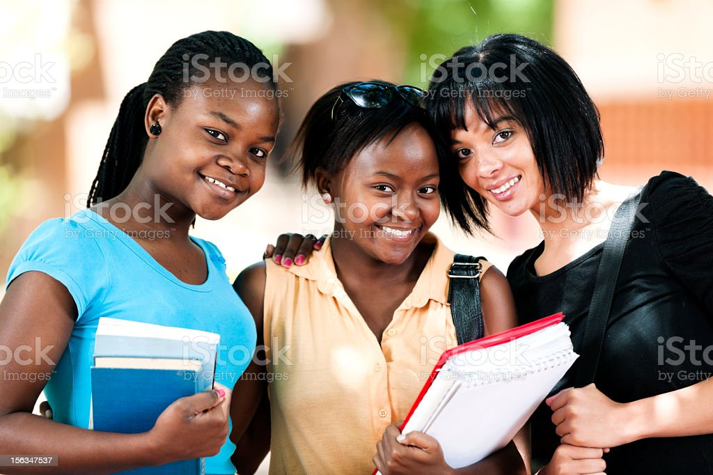 Group of female students together royalty-free stock photo