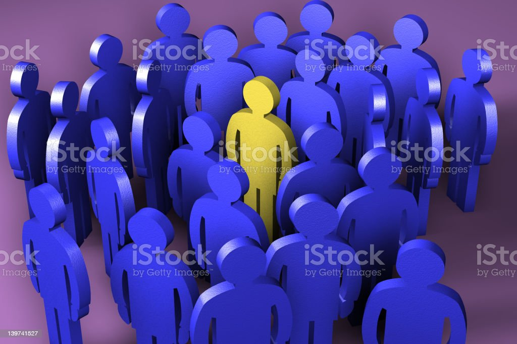 Group of  Figures royalty-free stock photo
